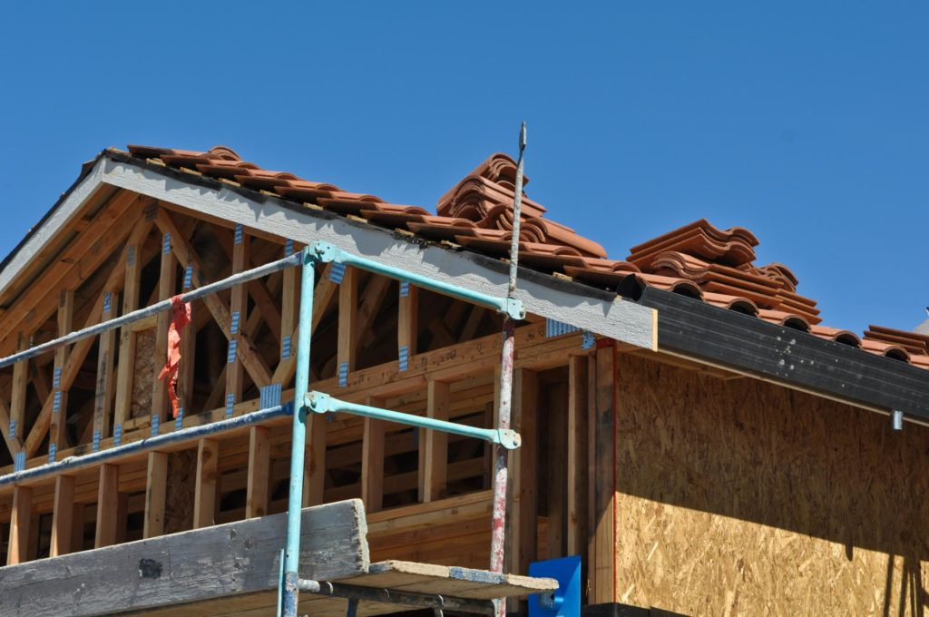 a house roof under construction